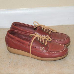 1970s Thom Mcan Wedge Lace Up Loafers Size 5